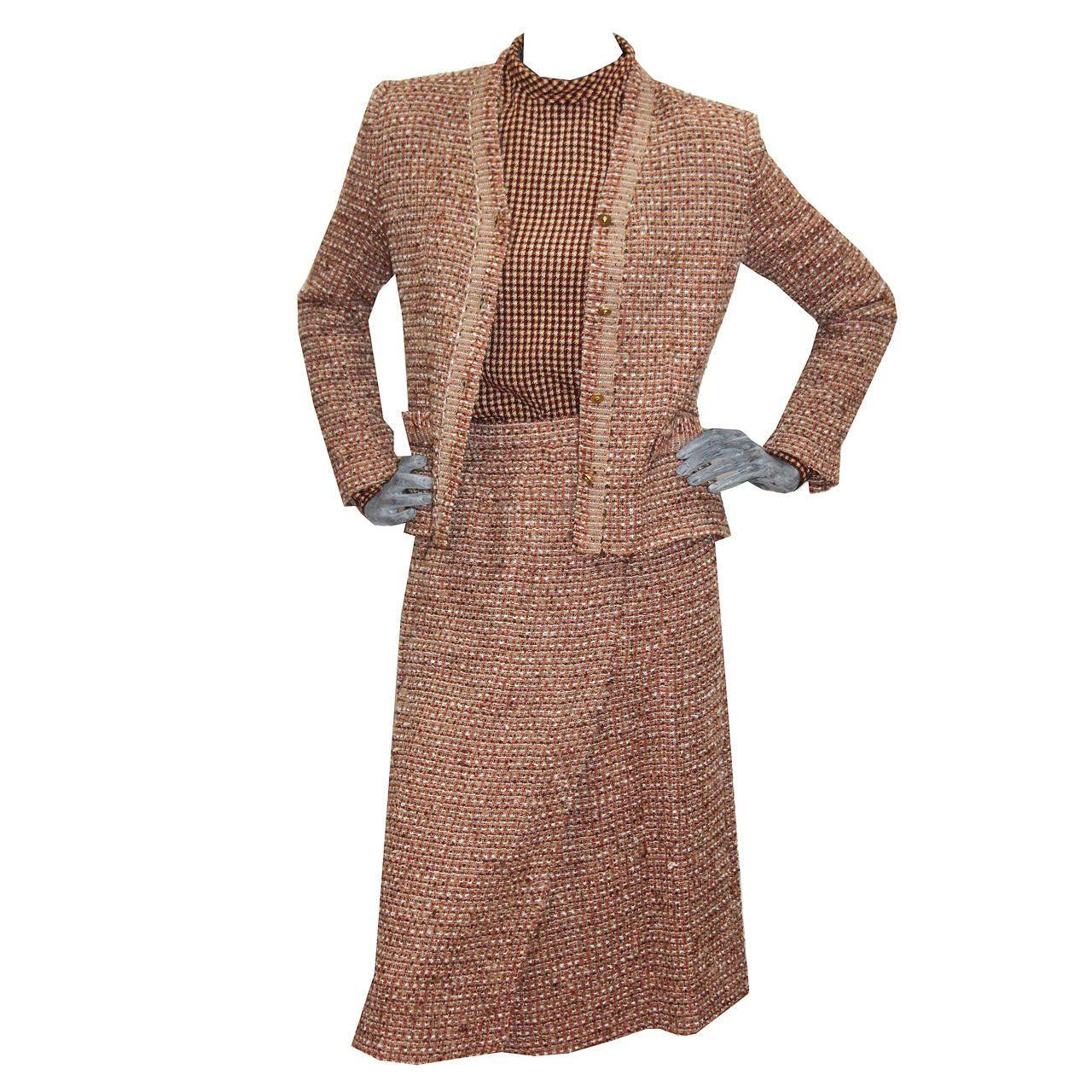 ad2f2cfeaa1 1970s Chic Tweed Chanel Suit Ensemble