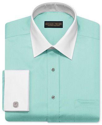 Mint shirt, grey pants (imagine, white tie and grey jacket ...
