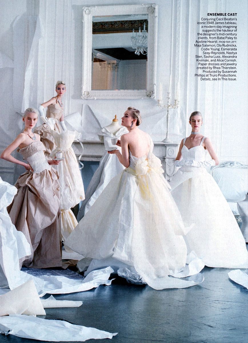 Young girls wedding dresses  The One And Only by Tim Walker for Vogue May   Très Chic
