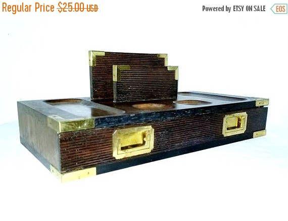 vintage wood valet dresser boxmens jewelry boxwood jewelry box