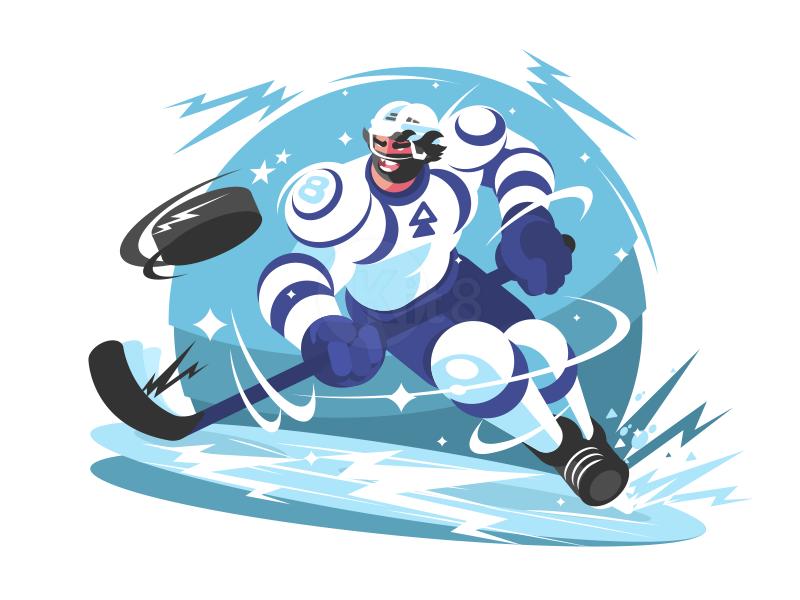 Hockey player Хоккеисты, Хоккей, Иллюстрации