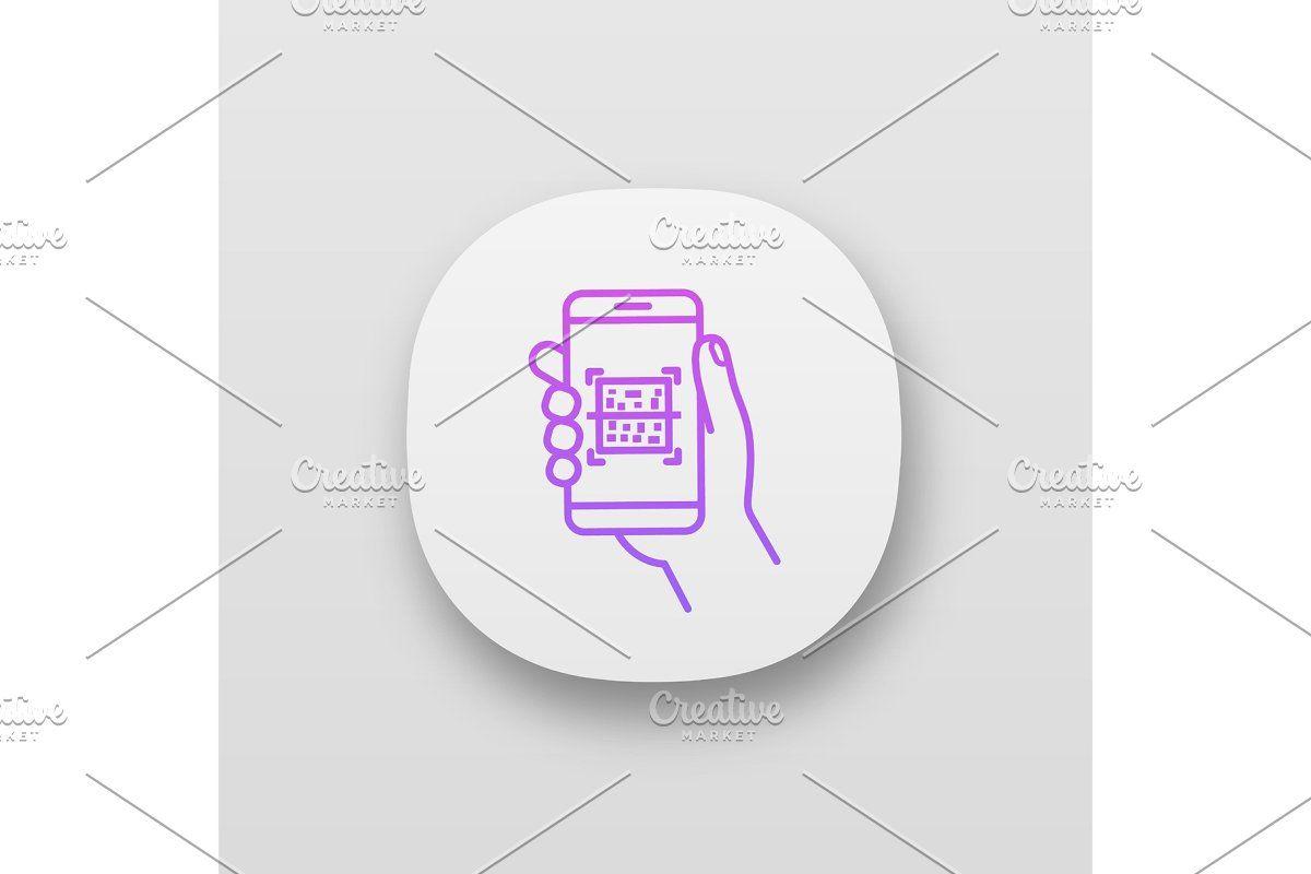 QR code scanning app interface #Sponsored , #sponsored, #template#vector#black#Mobile