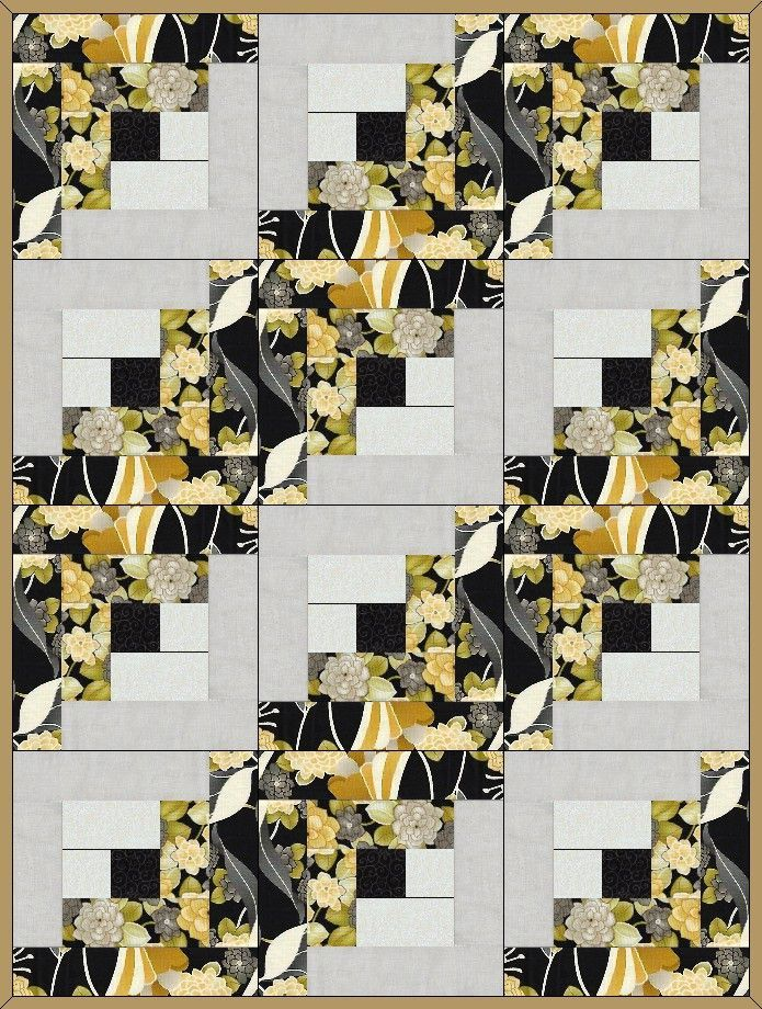 This nice precut quilt kit uses a traditional quilt block pattern ... : the log cabin quilt shop - Adamdwight.com