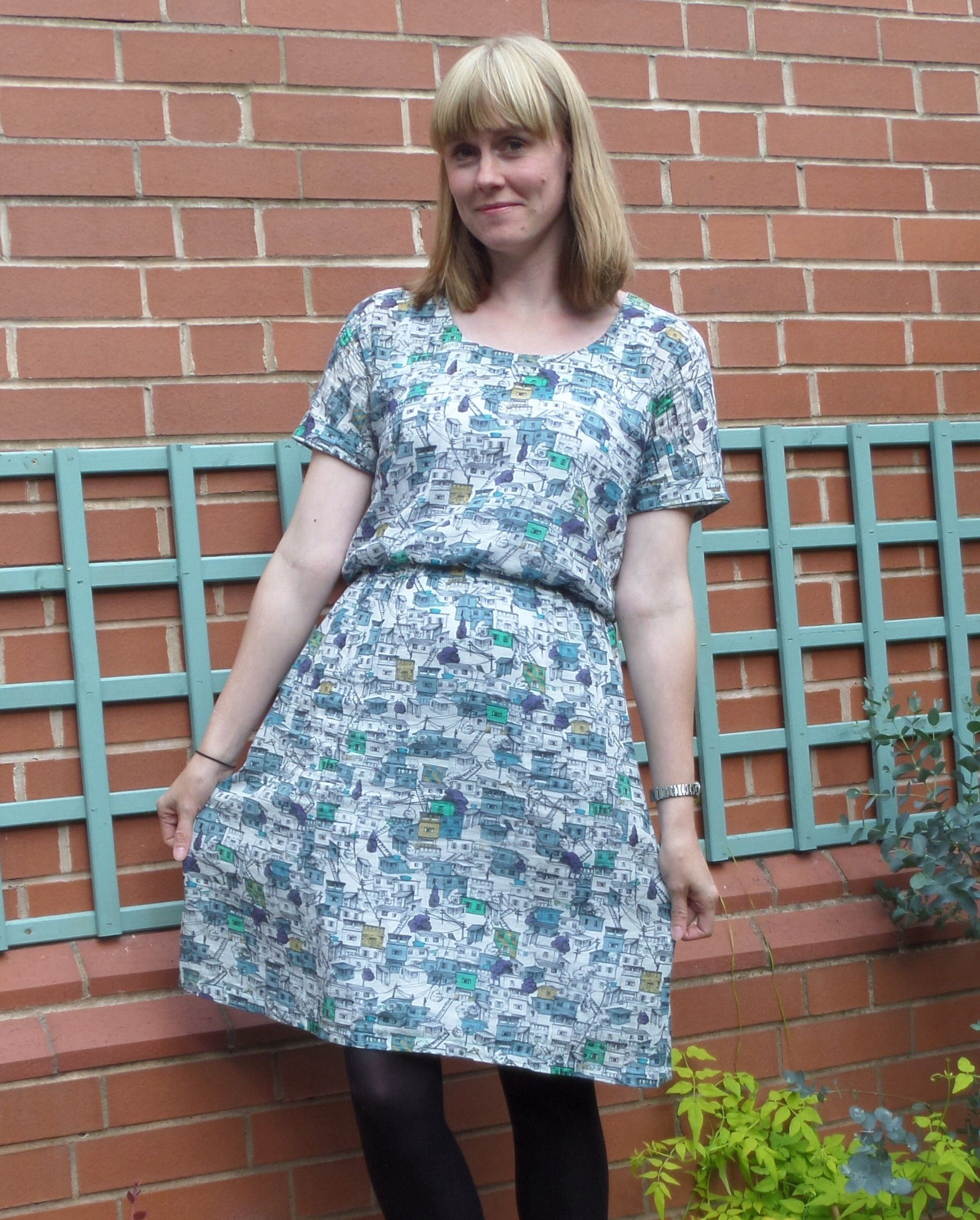 Modern dressmaker buttons - Bettine Dress With A Line Skirt Sewing Pattern By Tilly And The Buttons