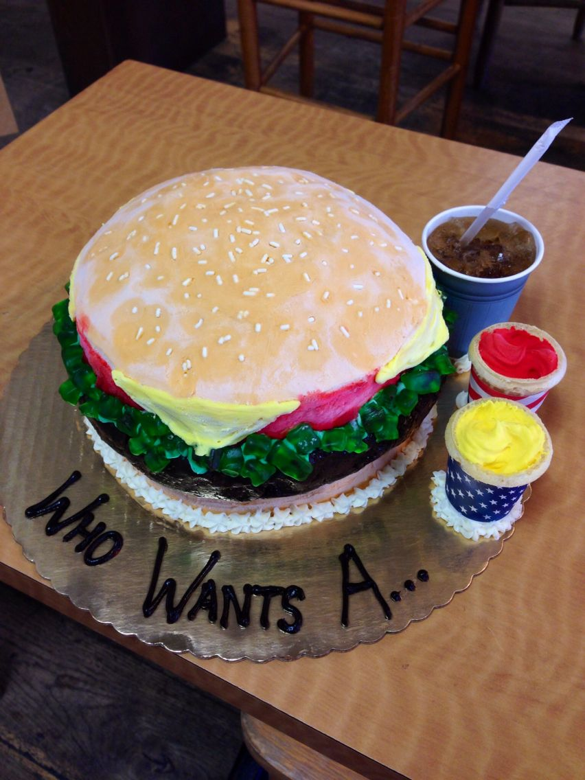 Cheeseburger ice cream cake ice cream cake cream cake
