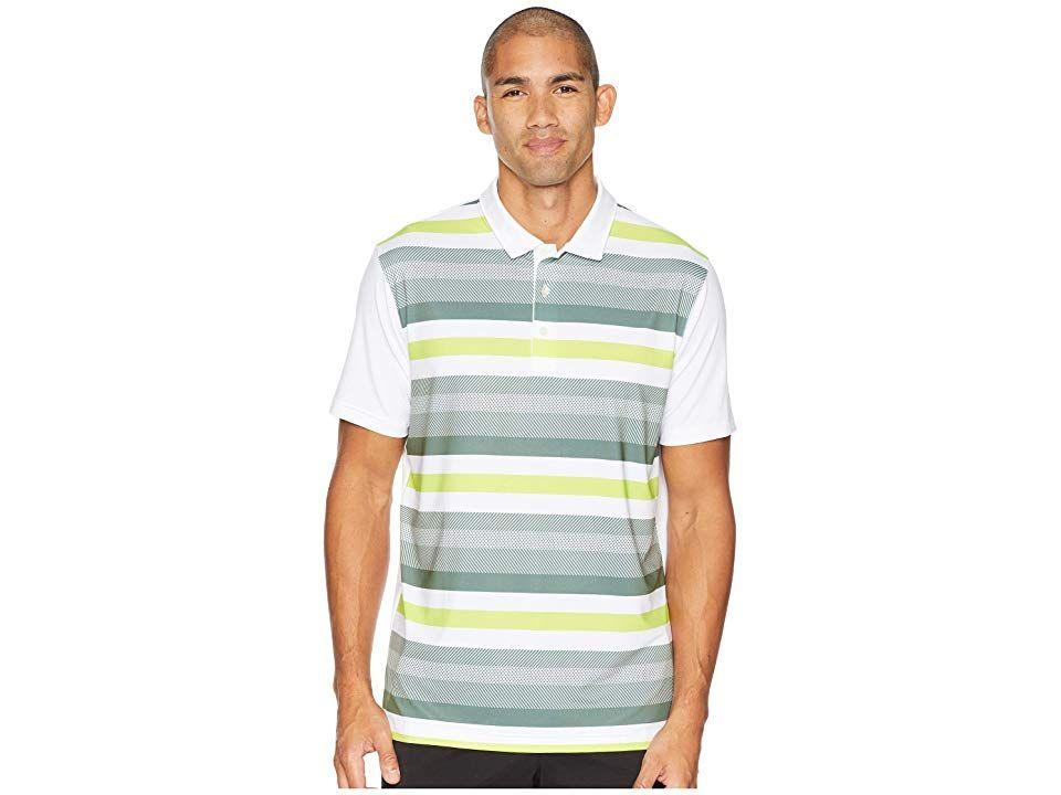0400a14f95 PUMA Golf Turf Stripe Polo (Bright White/Laurel Wreath) Men's Short ...