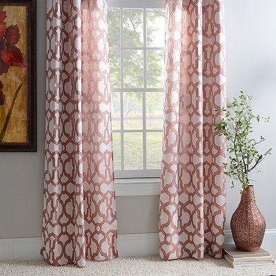Spice teemu curtain panel set 84 in trellis patterncurtain panelskirkland