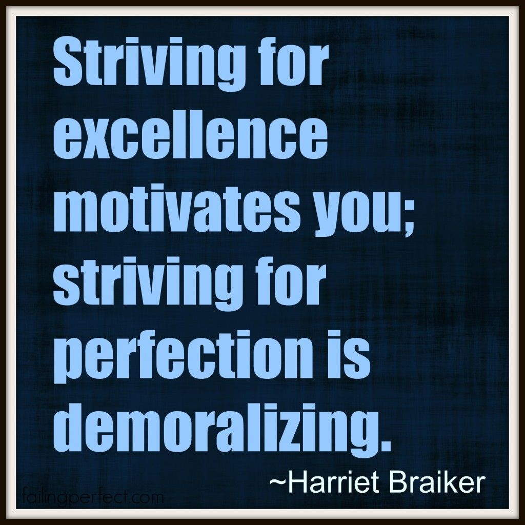 What motivates you? Striving for Excellence, not ...