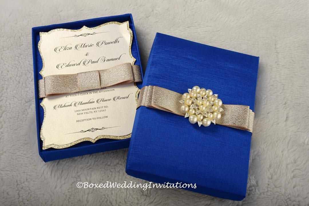 Royal Blue Wedding Invitation Cards: Imperial Blue And Gold It's Such A Great Combination For A