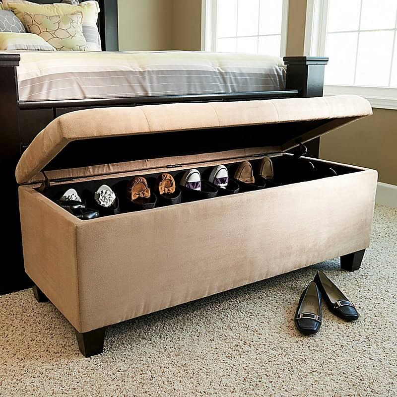 Shoe Ottoman - Latte - Improvements - hide shoes and can use for ...
