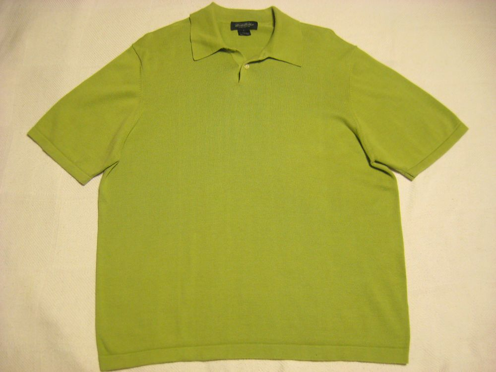 BROOKS BROTHERS Polo Large Shirt Light Green Pima Cotton Super Soft Short Sleeve #BrooksBrothers #PoloRugby