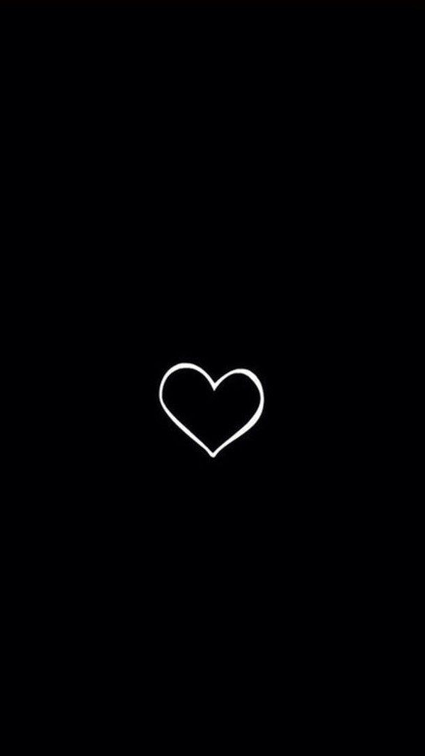 Wallpaper Simple Black Love