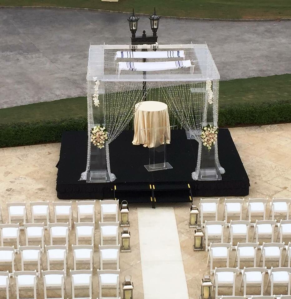 Key West Wedding Ideas: Acrylic Chuppah. Ceremony.