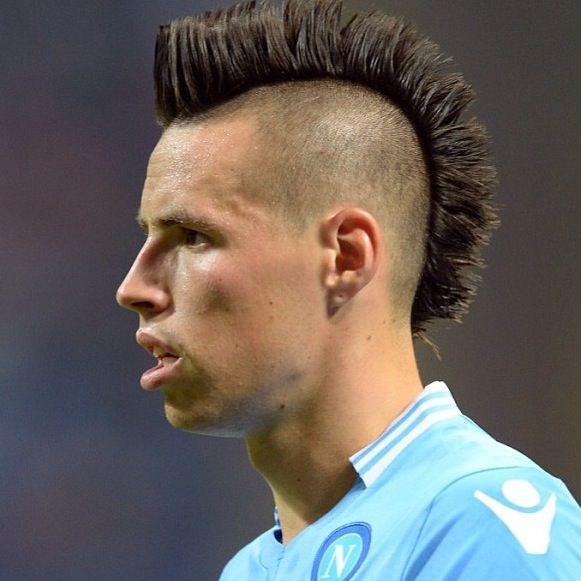 Marek Hamsik Zack Morris Hair Football Hairstyles Mohawk