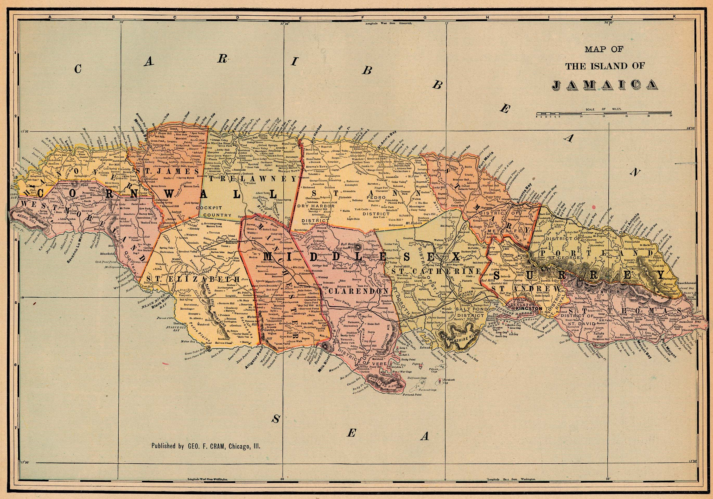 NationMaster Maps Of Jamaica In Total Jamaica Pinterest - Vintage map of jamaica