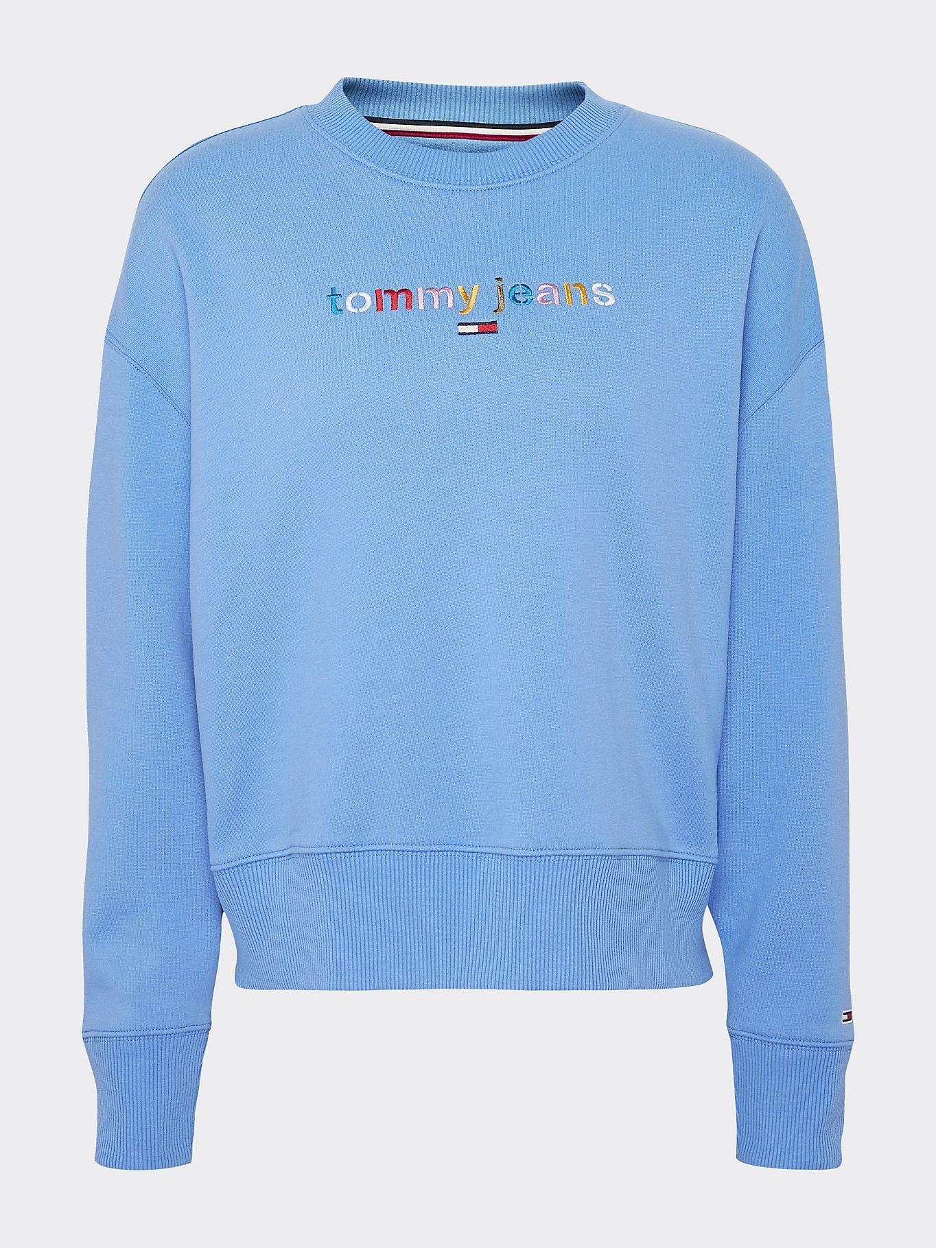 Multicolour Logo Relaxed Fit Sweatshirt Blue Tommy Hilfiger Workout Sweatshirt Sweatshirts Women Hoodies Sweatshirts [ 1819 x 1364 Pixel ]