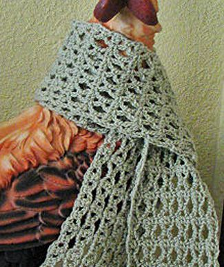 Crochet Scarf Free Pattern Uses 6 Oz Yarn Looks Fast And Easy To
