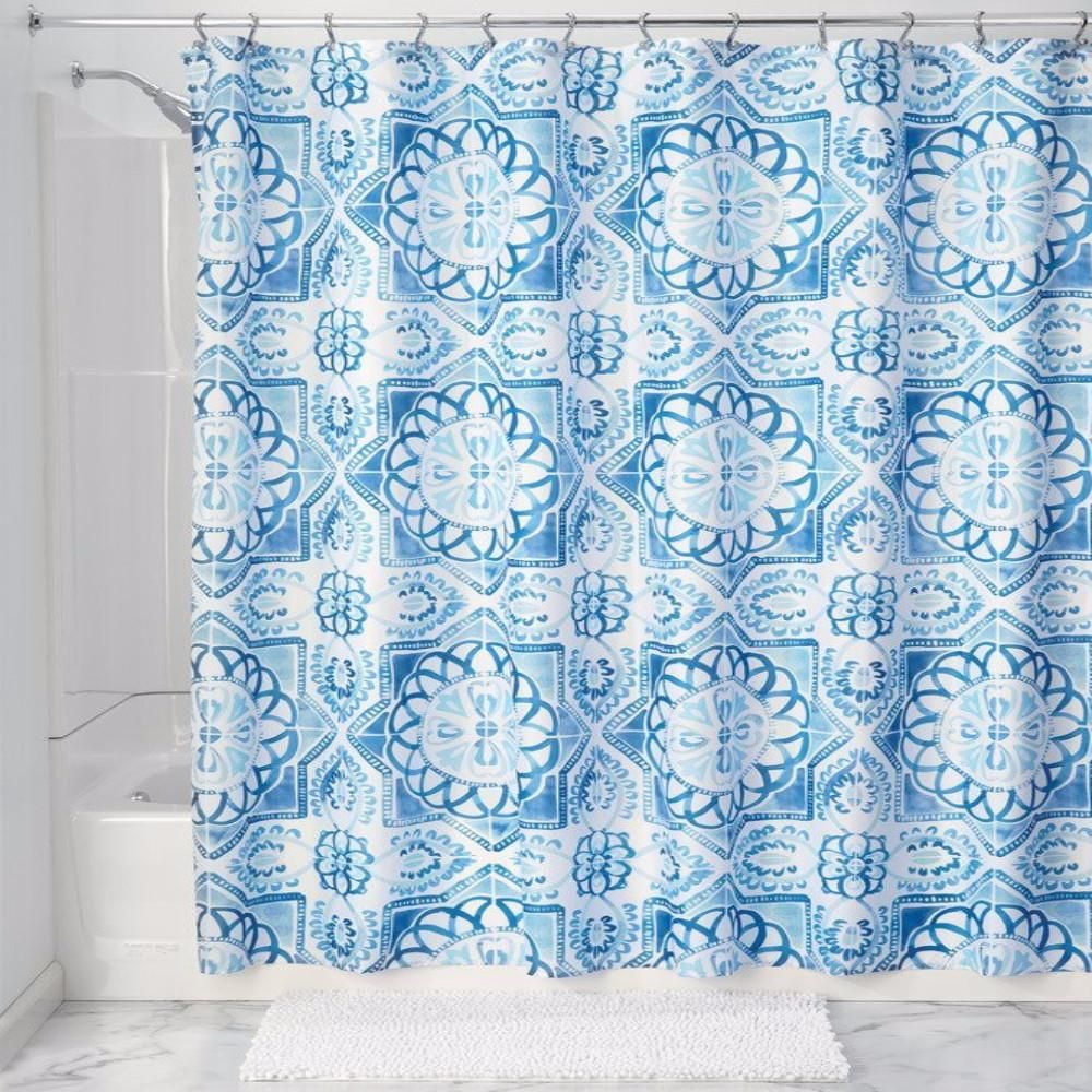 Spanish Tile Fabric Shower Curtain Liner | Pinterest | Products