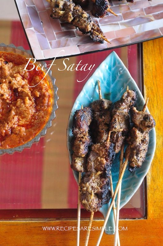 Best Beef Satay Recipe - Malaysian Indonesian BBQ Skewers - How to get the SMOKY STREET FLAVOR right at home!