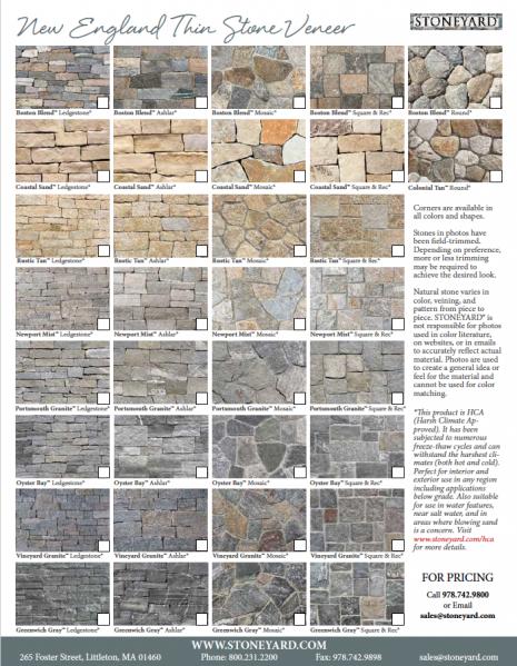 Natural Thin Veneer Stone Catalogs Amp Literature In 2019