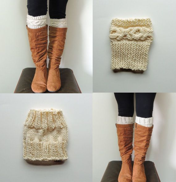 2 Knitting Patterns, Xoxo Cable Boot Cuffs Knitting Pattern & Basic ...
