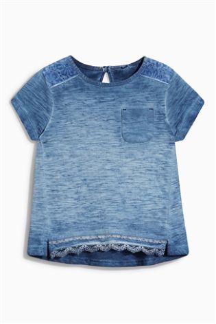 0adf83a5b Comprar Camiseta con encaje (3 meses-6 años) online hoy en Next ...