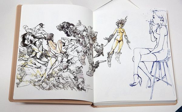 OMPHALOS is a compilation of masterful drawings from the sensual imaginings of Kim Jung Gi. In addition to these new drawings, Omphalos include the best of previous master Kim's erotic drawings as a b