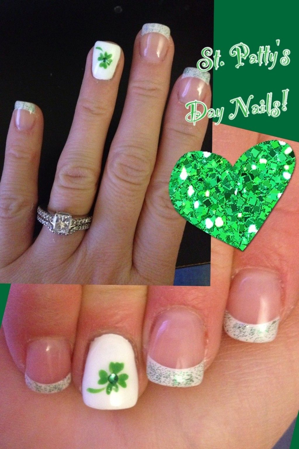 Saint Patrick\'s Day Nail Designs | Saints, Makeup and Nail nail