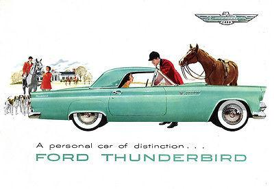 1959 Ford Thunderbird Promotional Advertising Poster