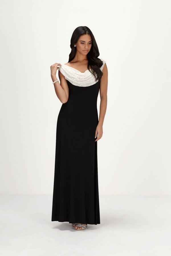 Cachet black evening dress