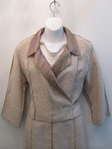 Chanel Tweed Beige Two Piece 1999 Printemps Collection Jacket Size 36