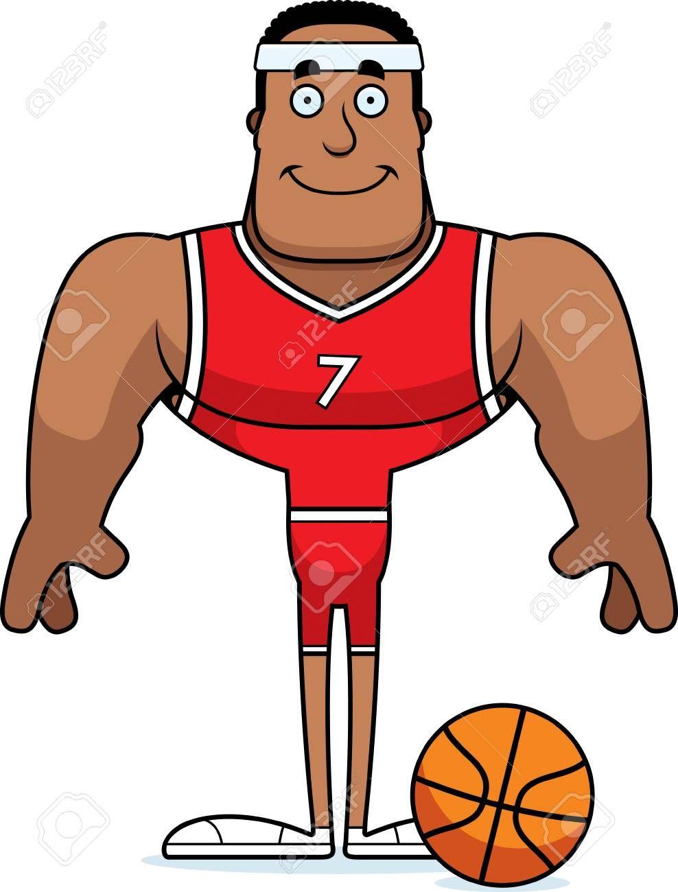 A Cartoon Basketball Player Smiling Illustration Sponsored Basketball Cartoon Player Illustration Smiling Basketball Players Cartoon A Cartoon