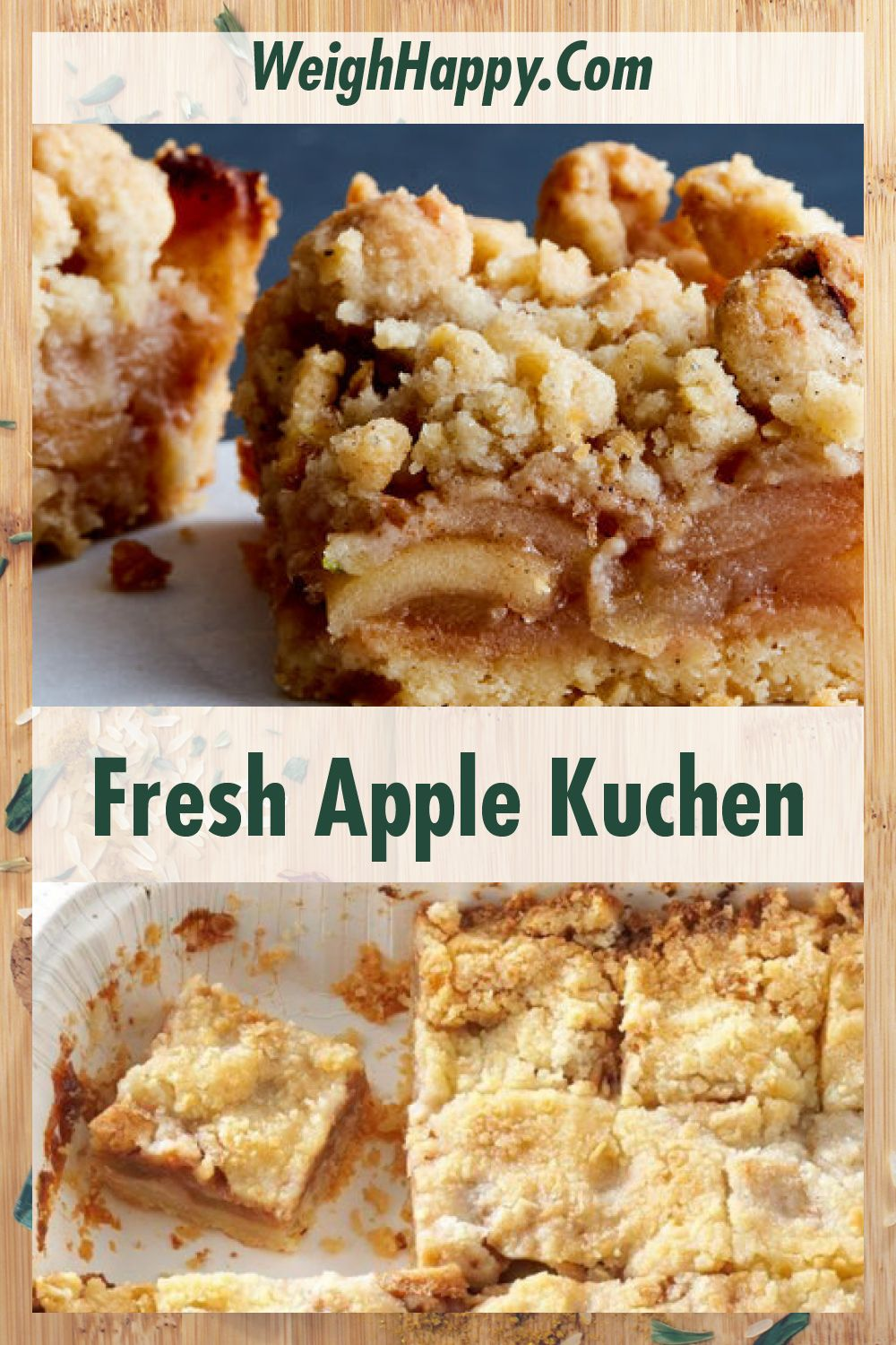 Fresh Apple Kuchen A German Favorite You Will Love To Better Health Recipe In 2020 Apple Kuchen Recipe Fresh Apple Recipes Apple Recipes