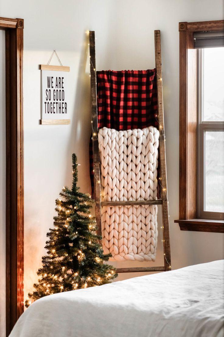 Easy DIY Blanket Ladder for under $15! (Step-By-Step Guide) images