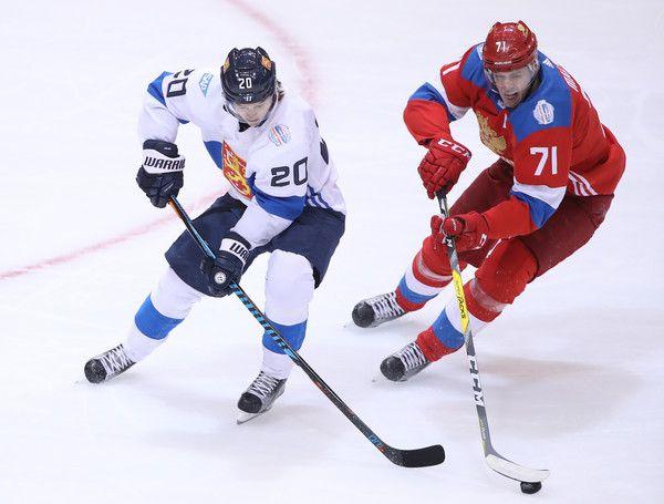 Sebastian Aho Photos Photos World Cup Of Hockey 2016 Finland V Russia Hockey World Cup Hockey Hockey Tournaments