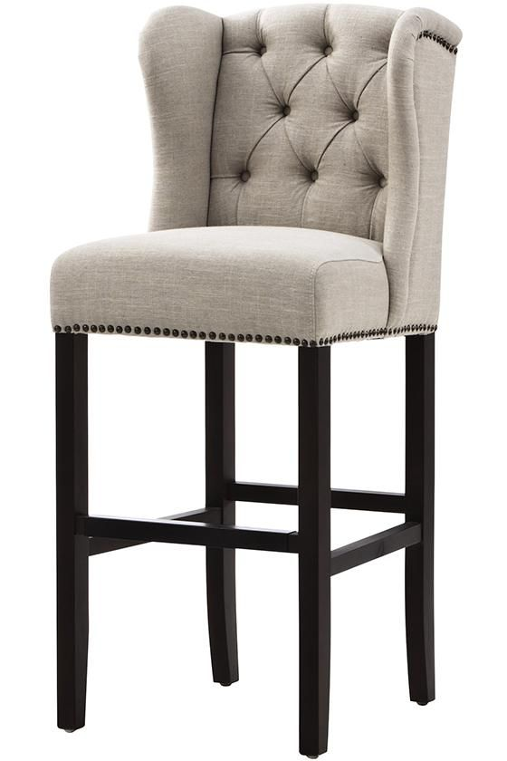 Wingback Barstool  Our Favorite Home Staging Finds At Your Fingertip. Park Avenue Beige Linen Counter Stool  PAR COU 223   Brown  Fabric