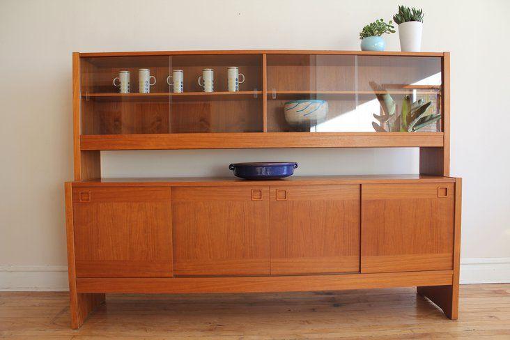 Danish Modern Teak Display Cabinet With Images