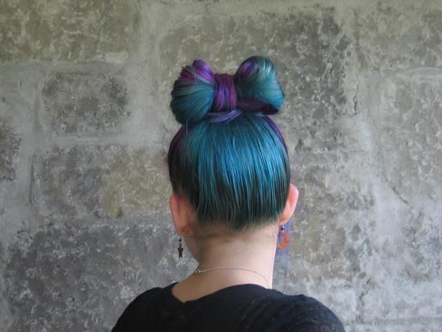 Splat Aqua Rush And Lusty Lavender Tied Up In A Pretty Bow Hair