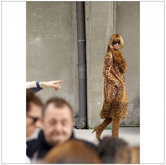 Anna Wintour was seen sitting second row (!) on Valentino in Paris last week. See the Instagram pic of her at the runway show today on The Wall of www.elin-kling.com