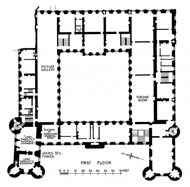 Holyrood palace floor plan edinburgh holyrood palace for Palace plan
