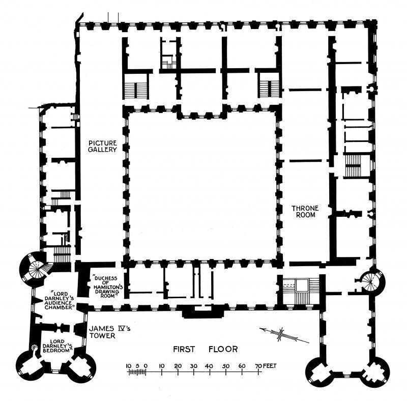 holyrood palace floor plan | edinburgh, holyrood palace | castle and