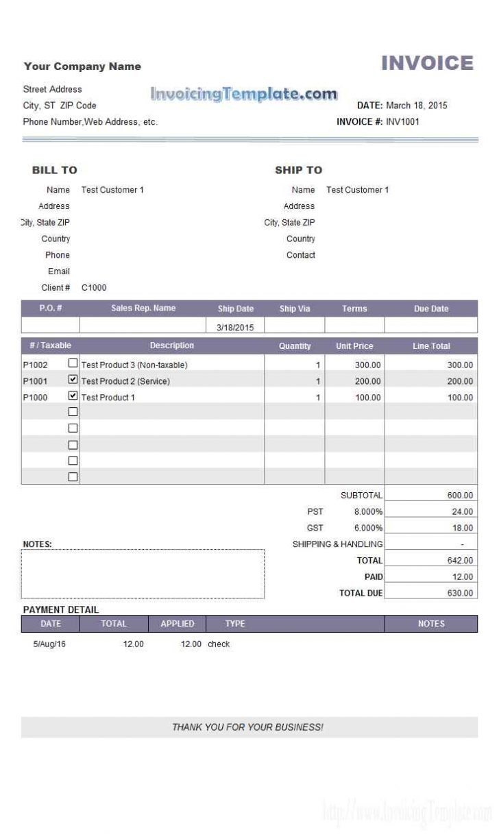 Invoice Template With Credit Card Payment Option Report Templates Throughout Credit Card Bill Template 10 Pr Bill Template Invoice Template Receipt Template