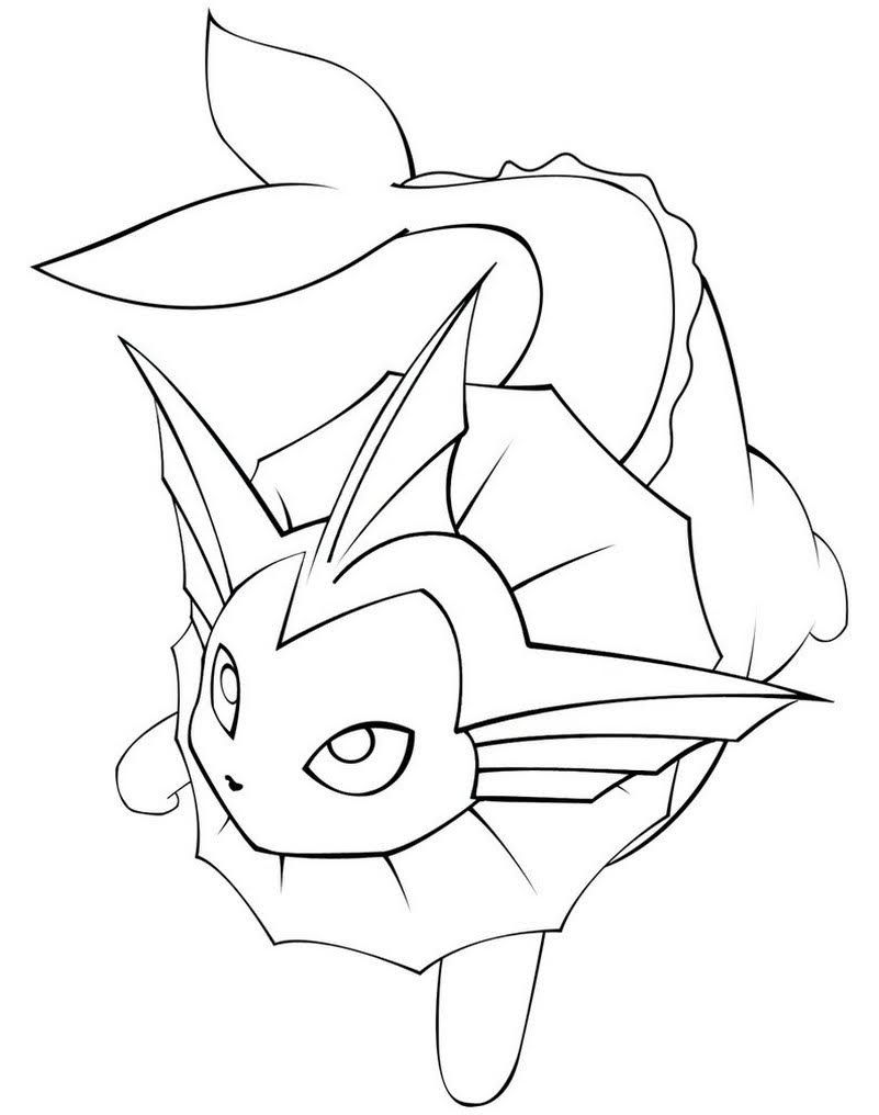 Pokemon Vaporeon Coloring Pages Pokemon Coloring Pages Pokemon
