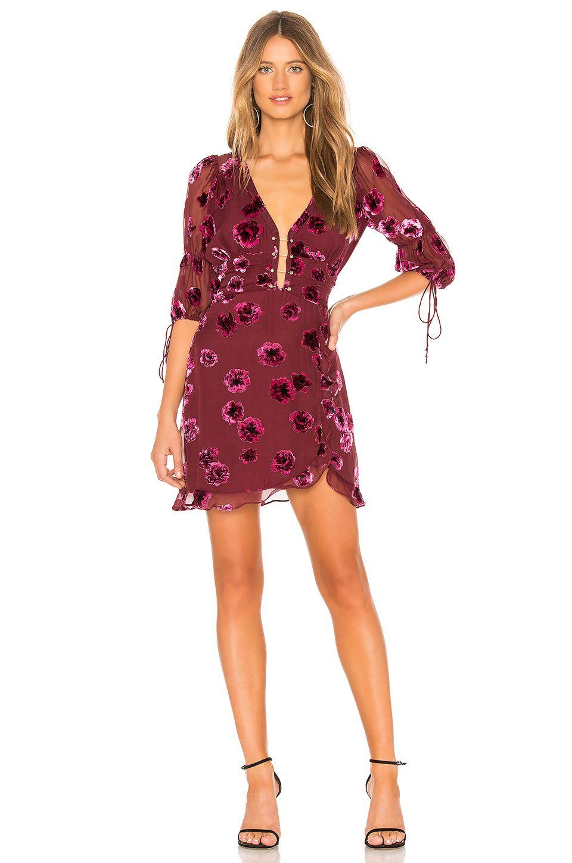 ce4dab9c51e For Love   Lemons Sophie Velvet Floral Mini Dress in Pansy