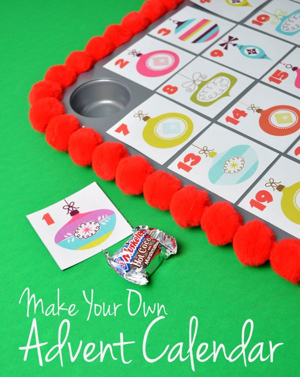 Make Your Own Advent Calendar Free Printable for Christmas