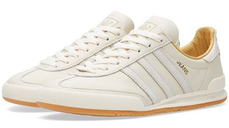 1970s Adidas Jeans MKII trainers reissued in a chalk white