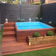 Mini piscina c 2 decoraci n pinterest mini piscina for Jacuzzi en patios pequenos