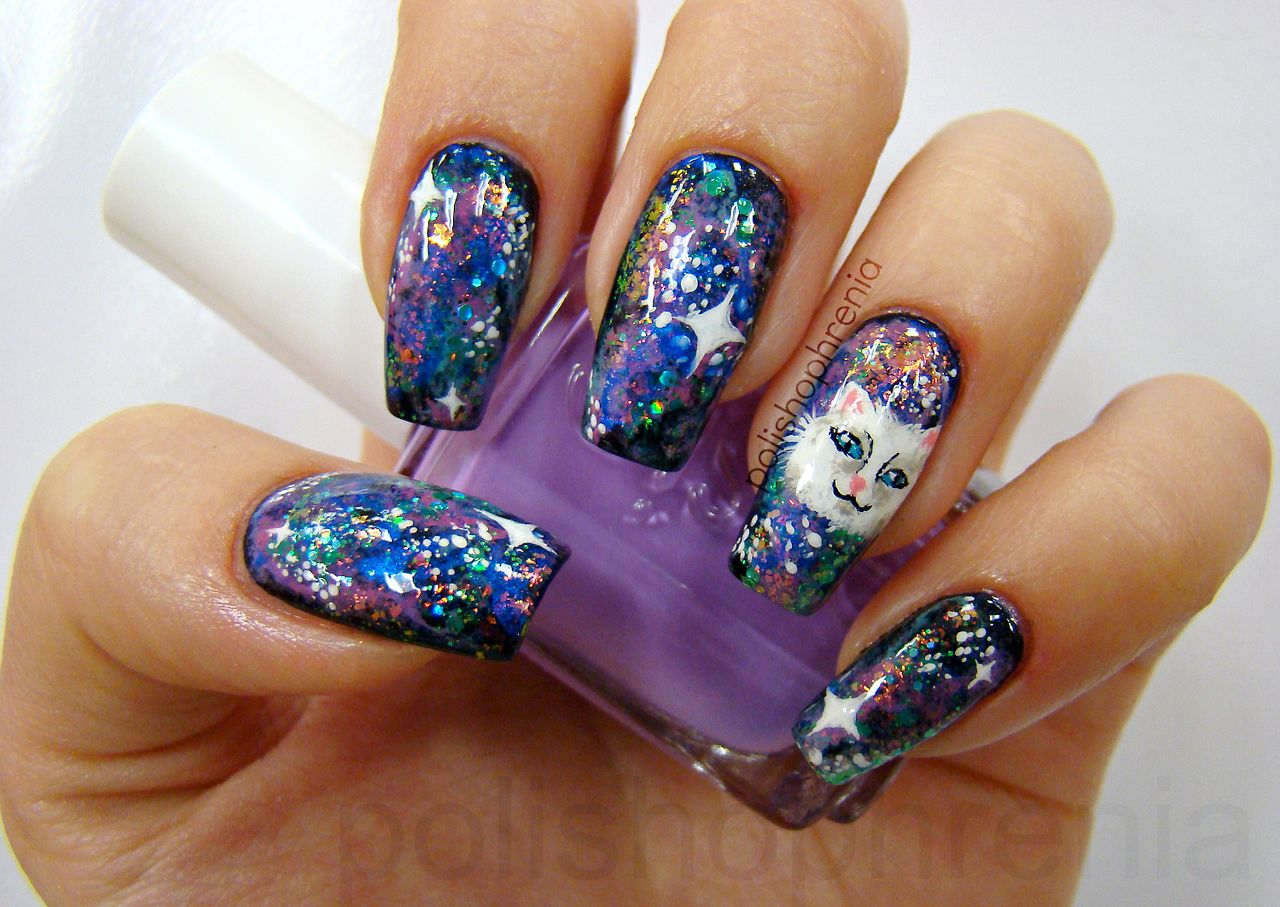 Used this tutorial for the galaxy design, then added my own flare ...