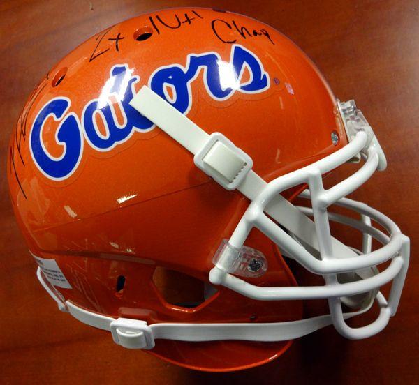 70e17c0c1c946 Percy Harvin Autographed Florida Gators Full Size Authentic Schutt Helmet