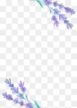 Lavender Purple Flower Leaf Beautiful Clipart Lavender Clipart Free Watercolor Flowers Flower Png Images Flower Border